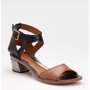 Leifsdottir Maija Metallic Heel Strappy Sandals